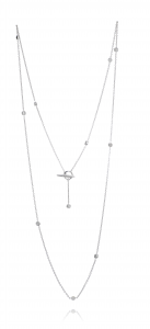 Diamond sky necklace long
